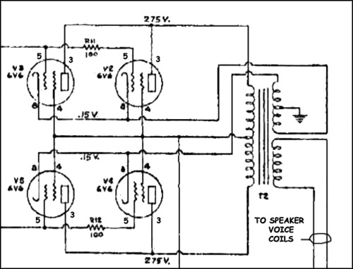 Power Amplifier, output section