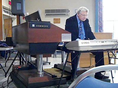 Don at a Yamaha keyboard.
