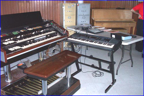 Hammond and keyboard