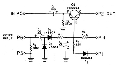 Schematic of X66 percussion keyer circuit.