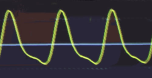 waveform from front top pickup